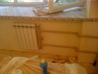 Установка радиатора отопления с байпасом