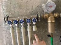 Монтаж коллектора для водоснабжения