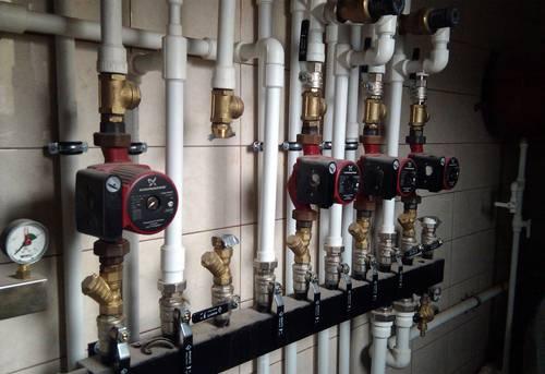 Монтаж коллектора отопления в Павловском Посаде