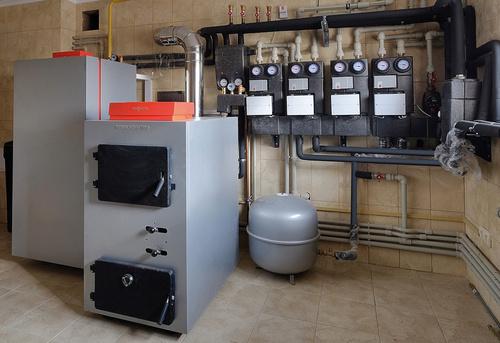 Монтаж твердотопливного отопления в частном доме в Павловском Посаде