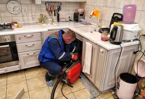 Прочистка канализации на кухне в Павловском Посаде
