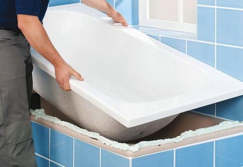 Установка акриловой ванны в Павловском Посаде