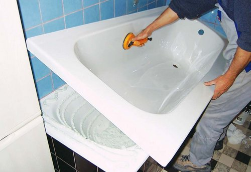 Замена акриловой ванны в Павловском Посаде