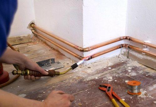 Замена отопительных труб в частном доме в Павловском Посаде
